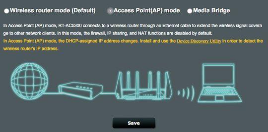 Slik setter du opp aksesspunktmodus på Asus' trådløse rutere.