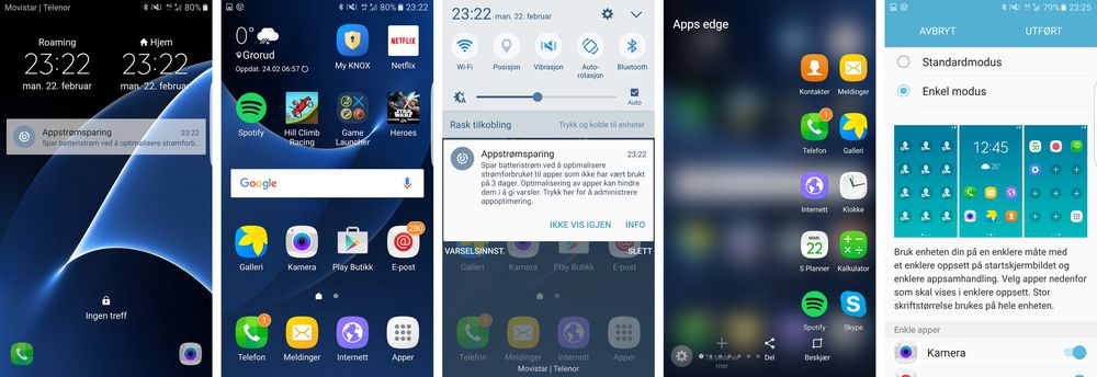 Menyene preges av Samsungs Touch Wiz-design. De er raske og enkle å bruke. Har du akkurat fått deg smarttelefon kan du velge en enda enklere menyvariant.