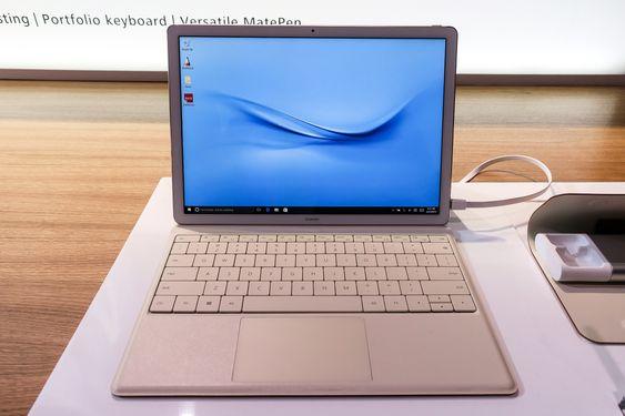 MateBook: Huawei vil inn i PC-markedet og går veien om et Intelbasert nettbrett.