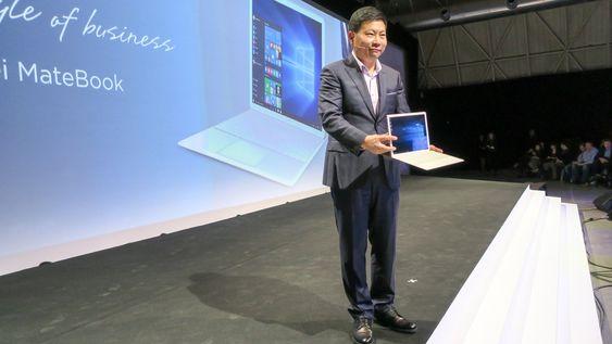Richard Yu: Se hva jeg har til dere. Det nye nettbrettet/PCen slår alle konkurrentene ned i støvlene i følge sjefen for devicer, Richard Yu.