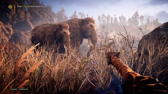 Spillets åpningssekvens sparer ikke på mammutkruttet.