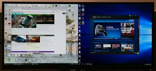 For delt skjerm og/eller generelt skrivebordsbruk vil flere piksler være bedre.