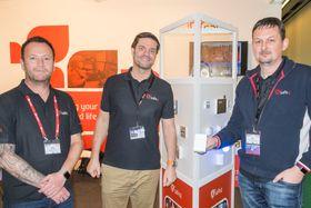 Vil skape en alarmrevolusjon; Svein Ingebretsen, Ronny Paulsen og Geir Birkheim i det norske selskapet Safe4 har satt seg fore å snu opp ned på alarmteknologien.