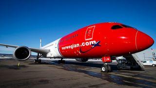 Norwegians nye Dreamliner landet på Gardermoen