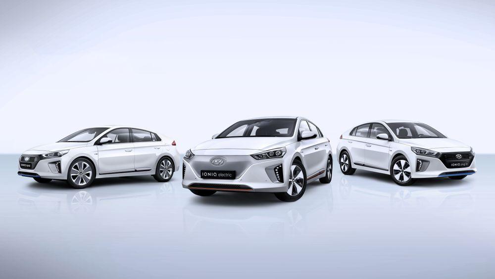 Hyundai Ioniq-trioen ble lansert i vinter. Denne inneholder Hyundais første elbil.