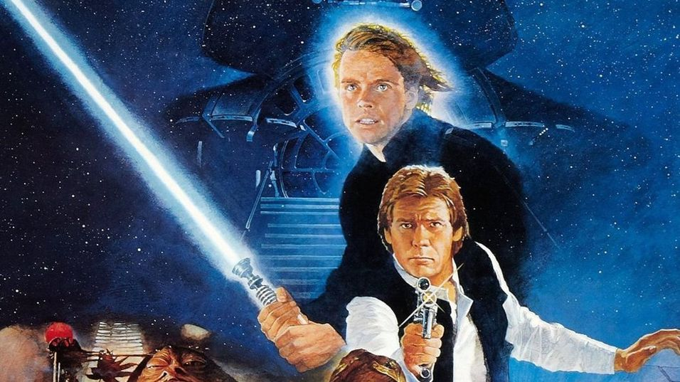 Utsnitt av Star Wars Episode VI: Return of the Jedi-plakaten.