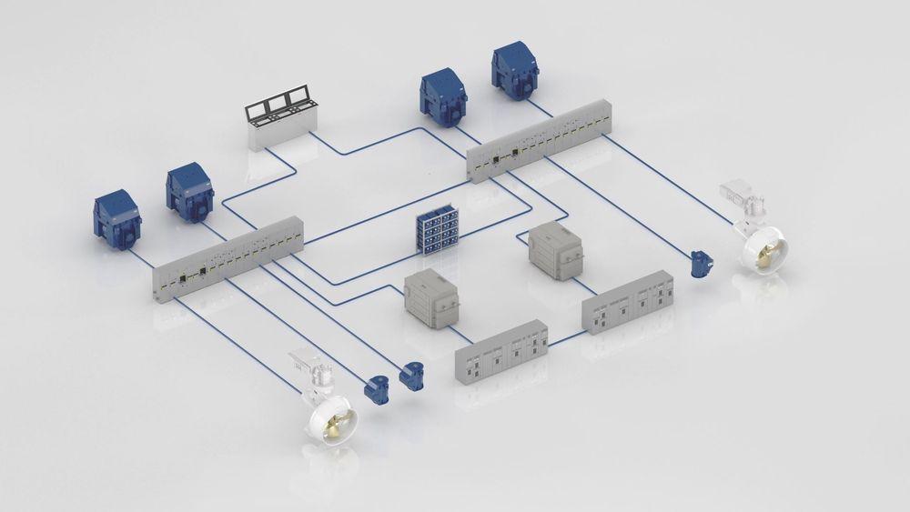 Hybrid kraftdistribusjon med energilagring og Azipod D-thrustere gir redusert forbruk og økt manøvrerbarhet for offshore spesialfartøy. ABB