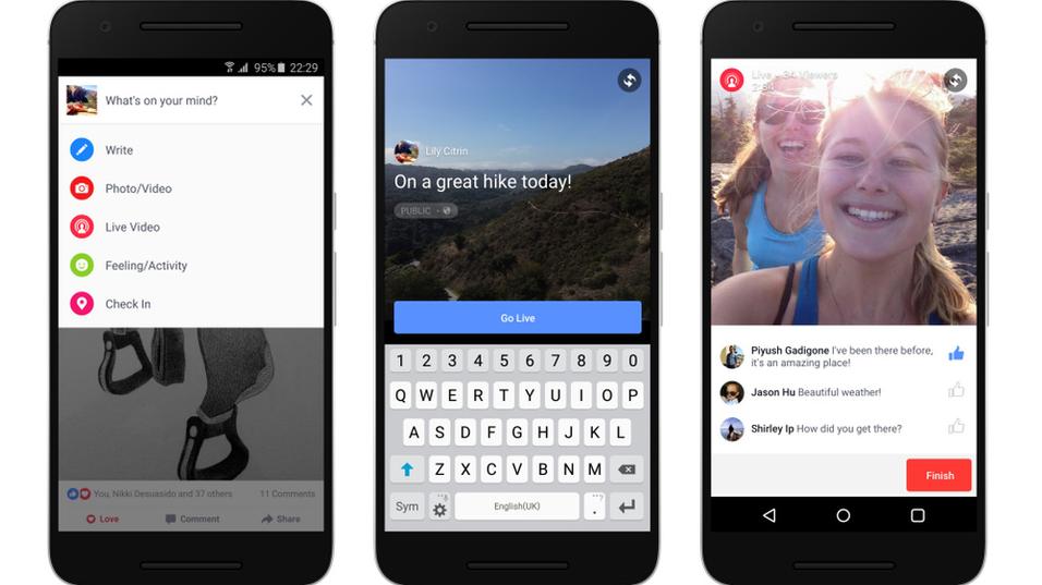 Livestrømming i Facebook kommer nå til Android.