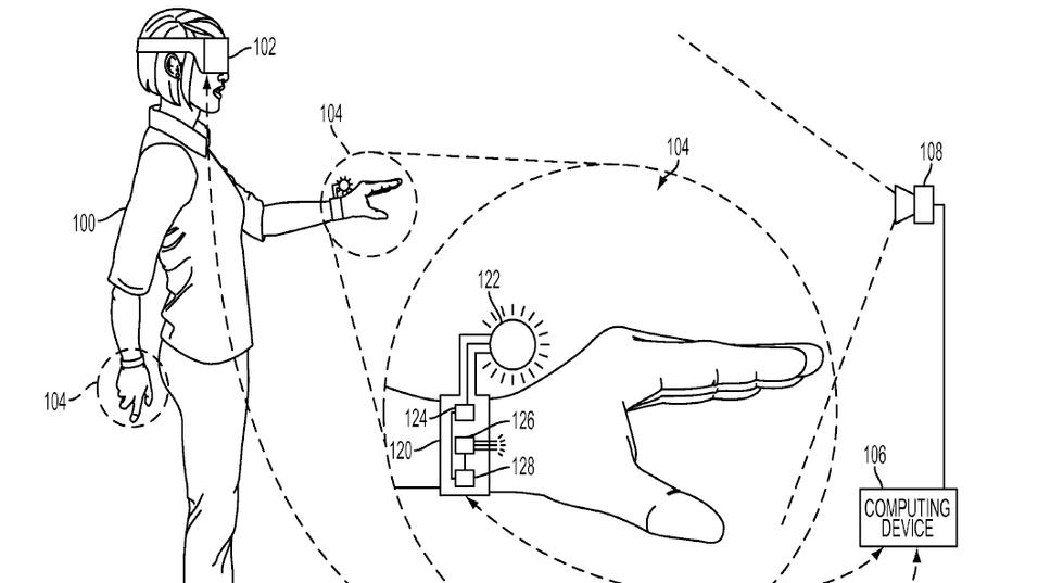 Illustrasjonsbilde av hansken, hentet fra patentdokumentet.
