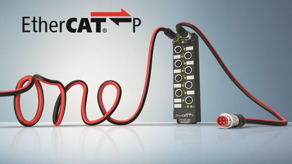 Dataoverføring og krafttilførsel i en og samme kabel er siste nytt fra Beckhoff.