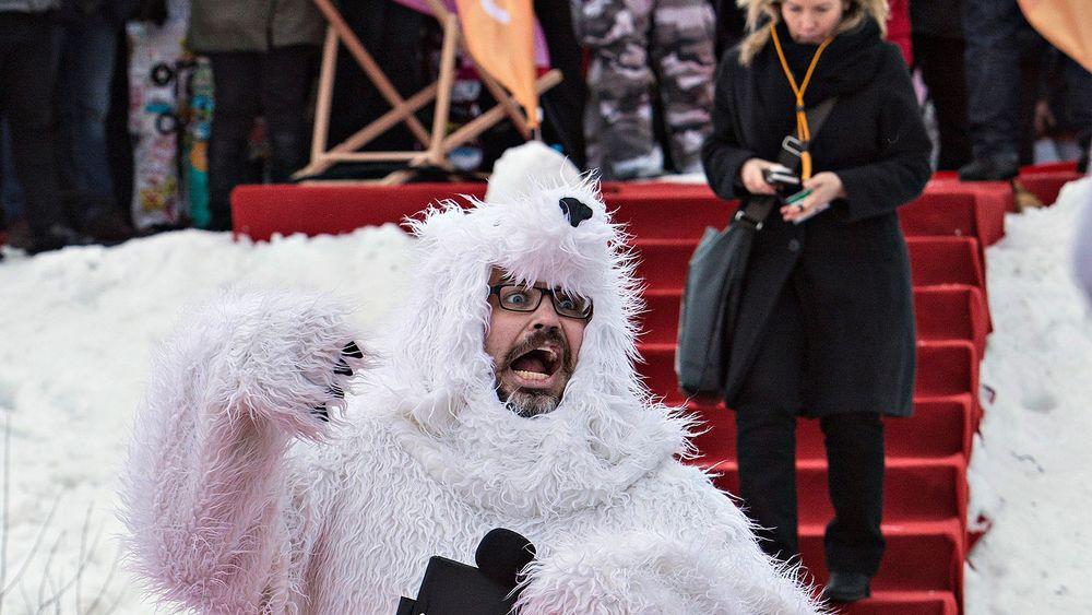 «Håpefulle skulle pitche sine ideer til investorer. En kar i isbjørndrakt startet seansen»
