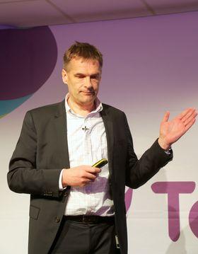 Administrerende direktør Abraham Foss i Telia Norge.