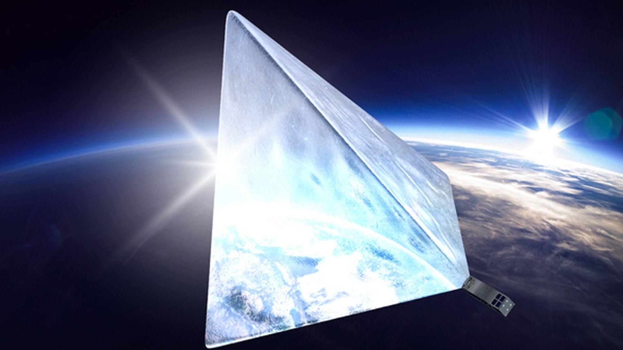 Slik vil den se ut, den russiske Mayak-satellitten som skal bli den lyseste stjernen på himmelen.