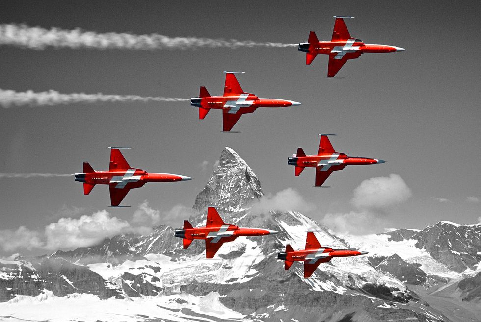 Patrouille Suisse. Foto: Swiss Air Force