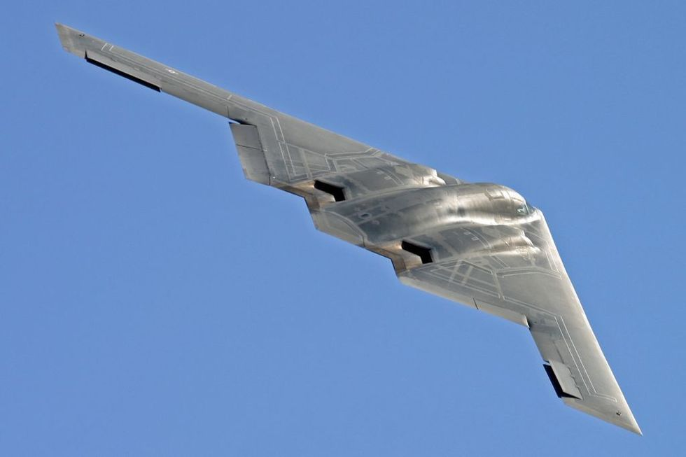 "B-2 ""Spirit"" – for første gang å se siden 2004. Foto: RAF Air Tattoo"