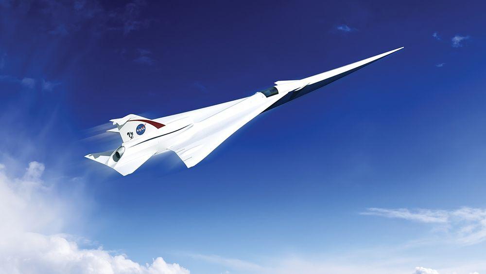 Et tidlig designutkast på et supersonisk, men stillegående, passasjerfly. Nå har LM fått oppdraget med å ferdigstille den grunnleggende designen.