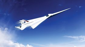Et tidlig designutkast på et supersonisk, men stillegående, passasjerfly.