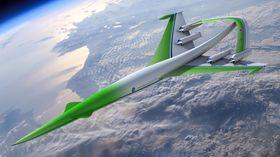 For fem år siden designet Lockheed Martin dette supersoniske konseptet der en halekonstruksjon med en snudd V-form over de fire motorene skulle bidra til å redusere trykkbølgene i overlydsfart.