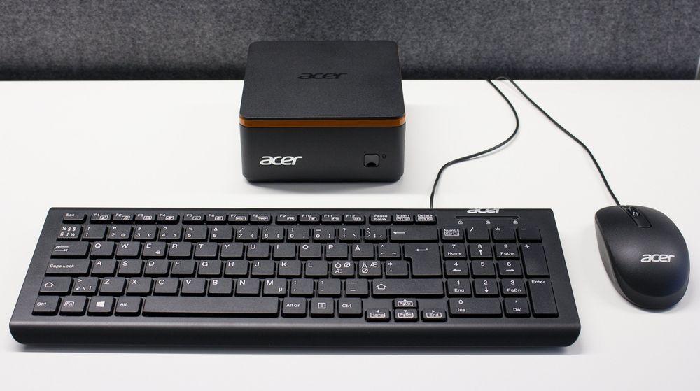 Acer Revo Build M1-601 med mus og tastatur.