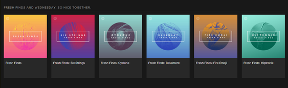 Dette er de fem Fresh Finds-sjangrene, som opererer med «kodenavn».