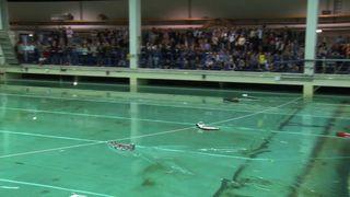 600 elever fyller bassenget med oppfinnelsene sine