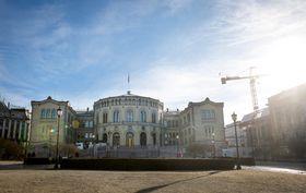 Stortingsbygningen ble åpnet 5. mars 1866.