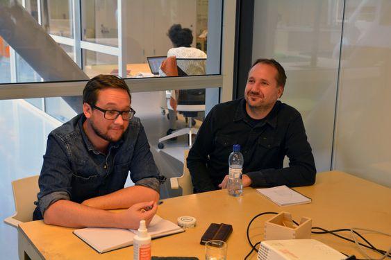Dan Hesketh og Terje Torma i Symphonical trives godt i det åpne miljøet i Startuplab.