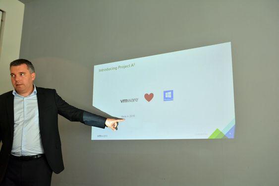 Project A2 er en stor satsning fra selskapet, etter årevis med krangling med Microsoft. På bildet - Håkon Fosshaug, ingeniør hos VMware.