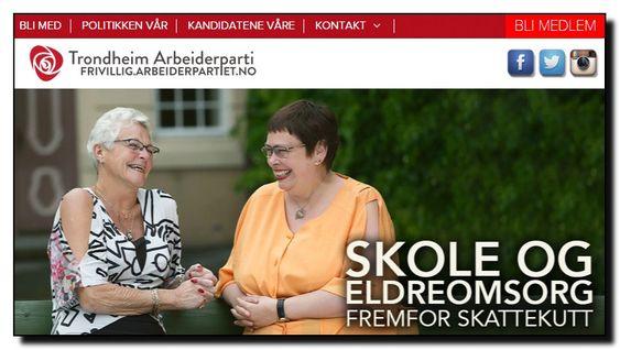 Brudd på kravene til universell utforming på Trondheim Aps nettsider.