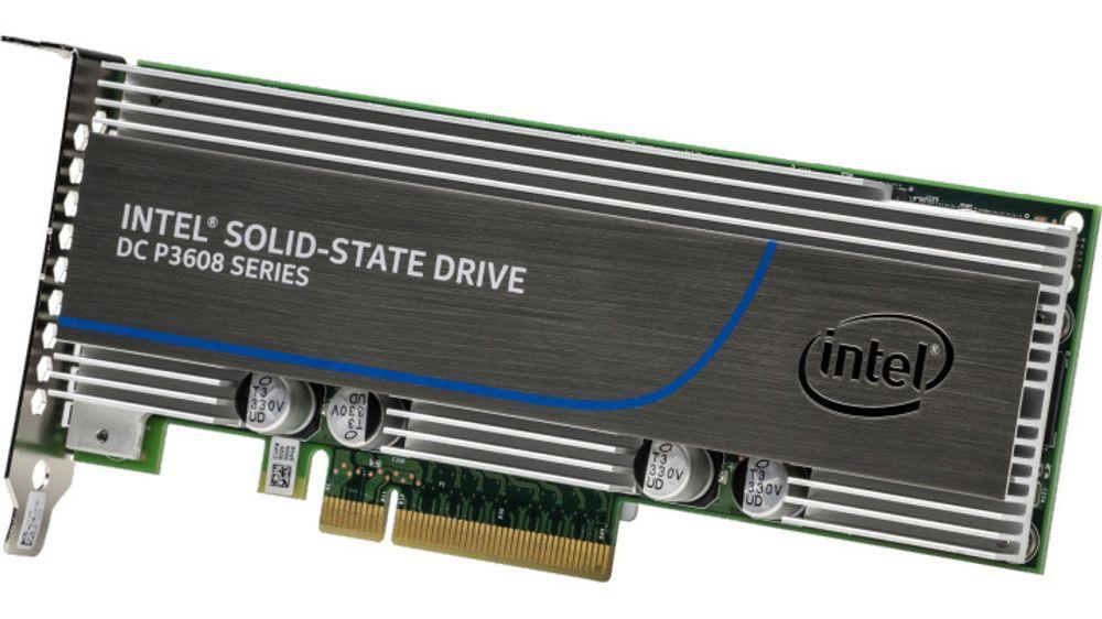 Den nye DC P3608-serien med SSD-er er den aller raskeste Intel har å tilby.