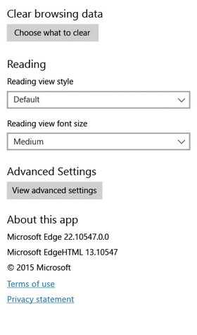 About-boksen i framtidig utgave av Microsoft Edge