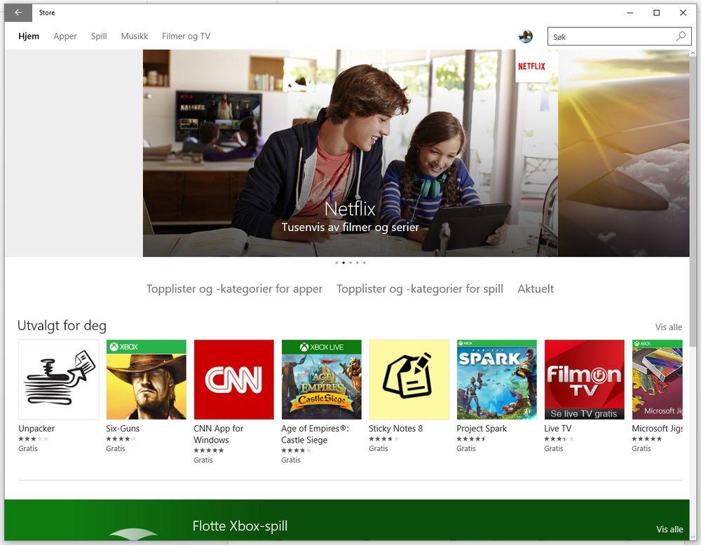 Mange flere bruker nettbutikken i Windows 10 enn de gjorde i Windows 8, sier Microsoft.