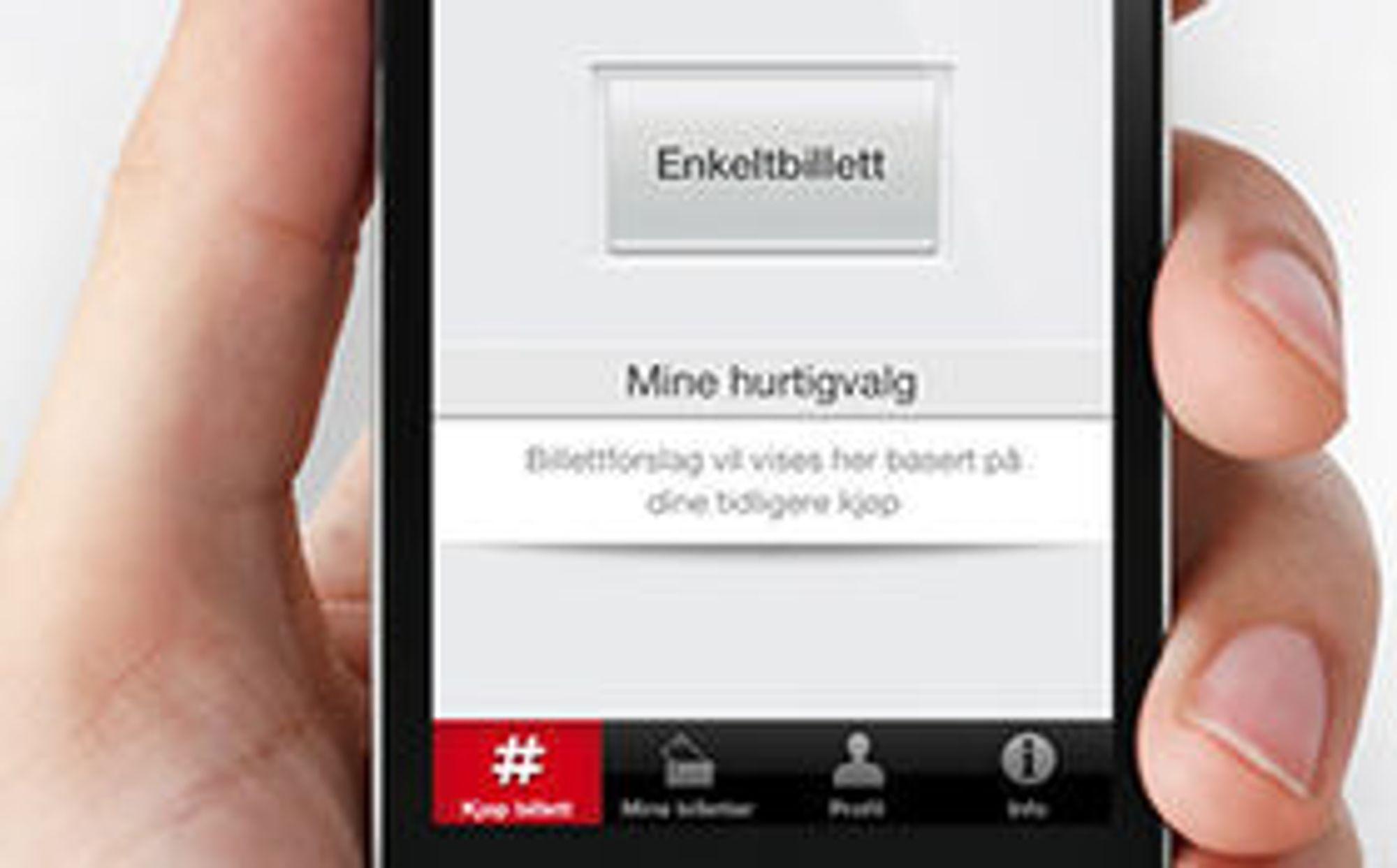 SMS-en tas stadig i bruk av nye tjenester, som her av kollektivselskapet Ruter for kjøp av elektroniske billetter.