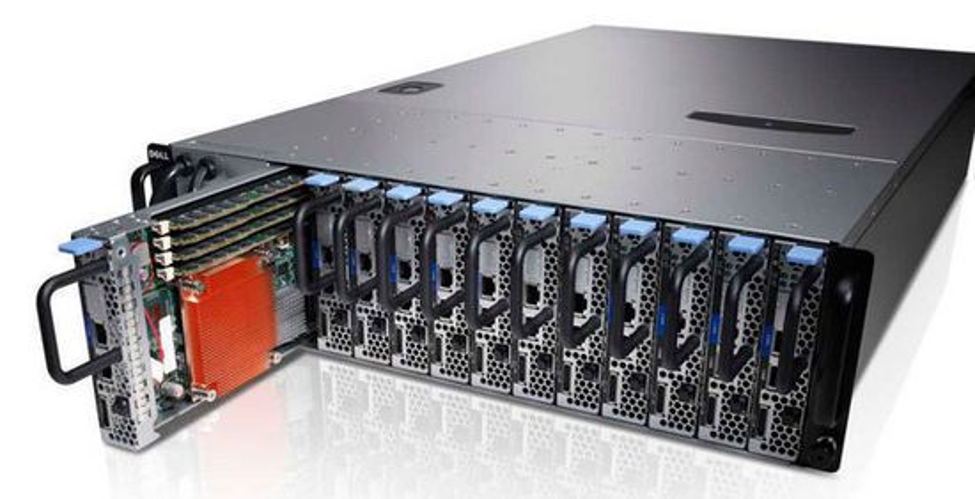 Dells Poweredge c5125 er et eksempel på en løsning basert på mikroservere.
