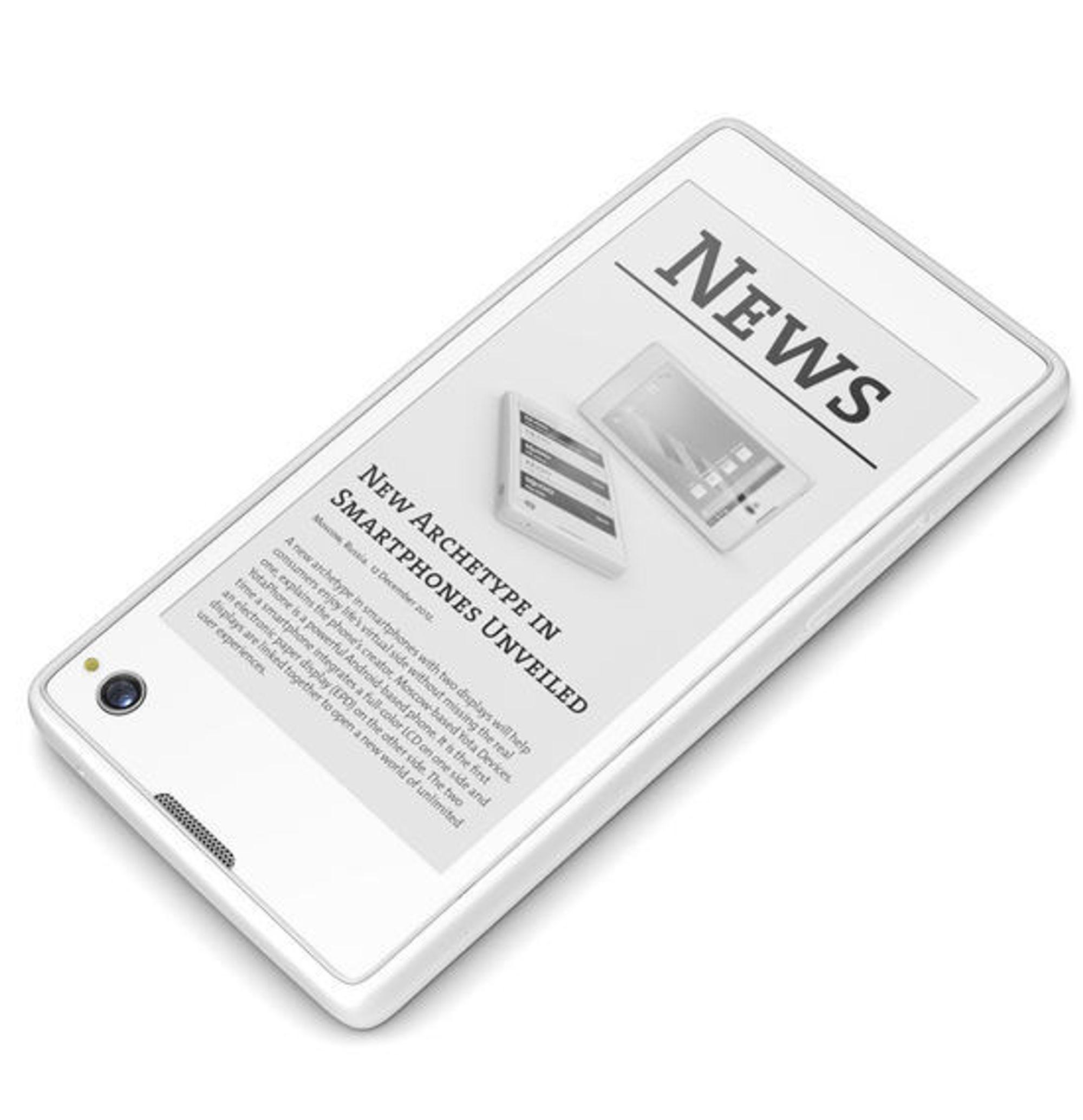 EPD-skjermen til YotaPhone skal være svært lesevennlig, i alle fall så lenge mobilen er i opplyste omgivelser.