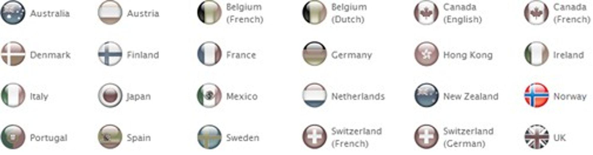 Disse landene, pluss USA, får selge iPhone 3G først.