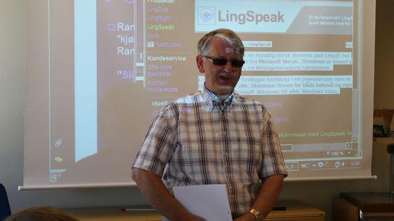 Generalsekretær Gunnar Haugsveen i Blindeforbundet.