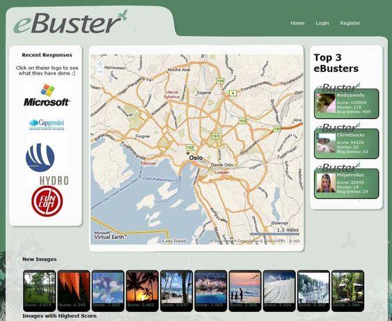 eBuster er et sosialt nettsted hvor hvem som helst kan rapportere inn miljøsvin.