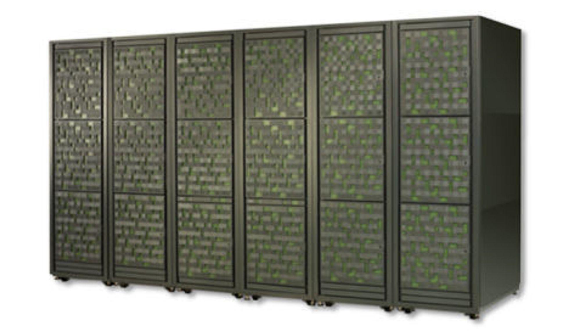 Utvendig framstår Hitachi VSP som en eller flere rack.