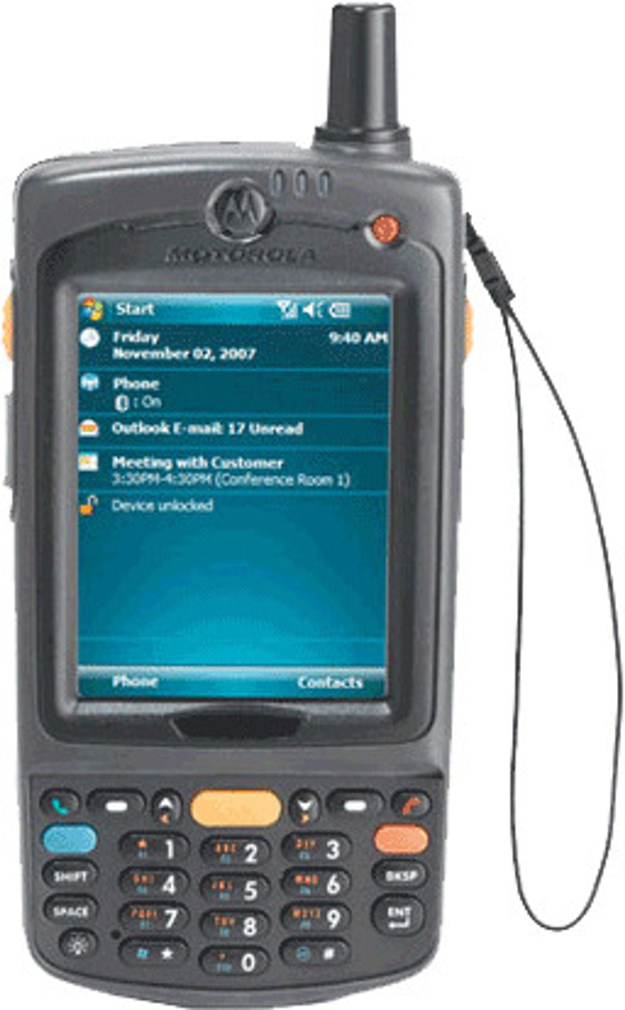 Motorola MC75 tåler støt, støv og vann, og har avansert datafangst, sikkerhet og samband. Den er samtidig nesten tre ganger så tung som en iPhone.