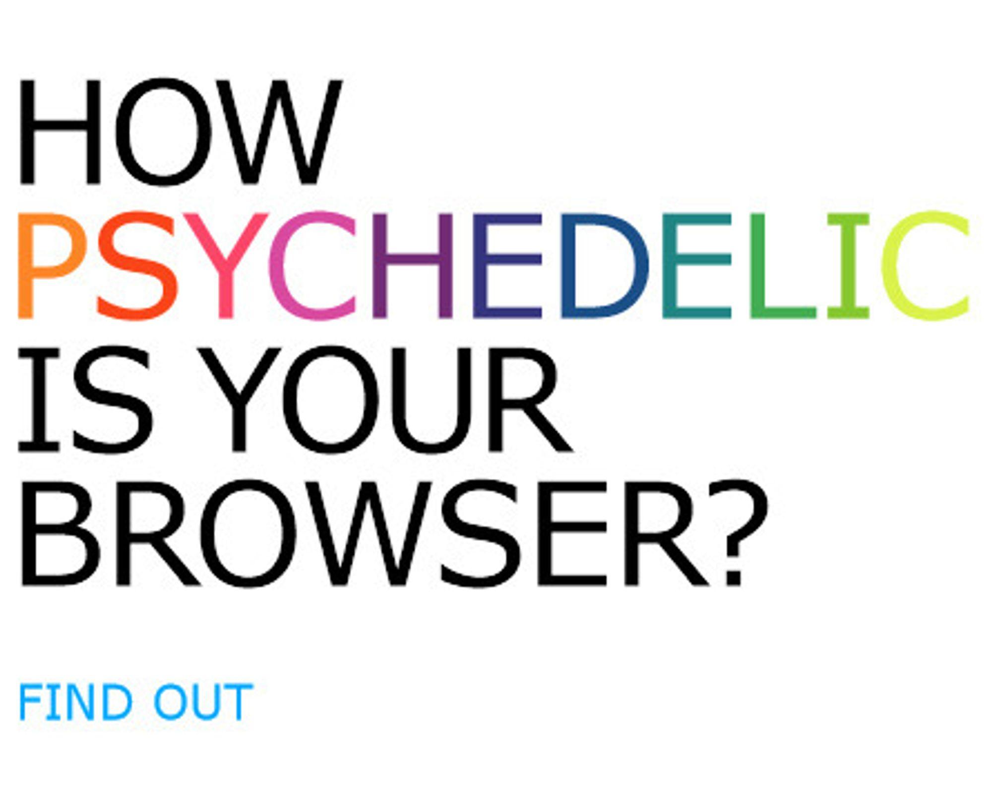 Slik starter Microsofts Psychedelic Browsing-test.