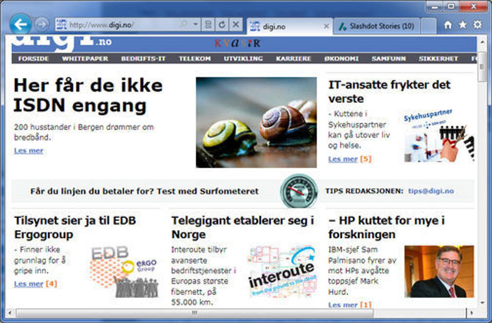 Internet Explorer 9 får et langt mer minimalistisk brukergrensesnitt enn tidligere.