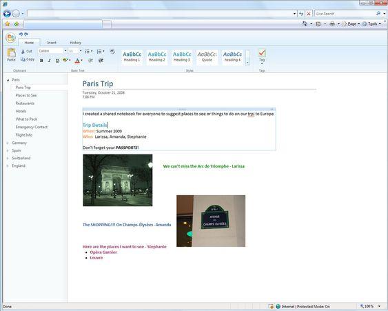 Redigering i Microsoft Office Web OneNote
