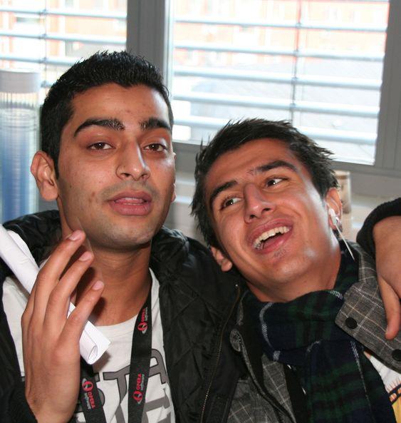 Usman Aslam og Jad Hama. Usman vil gjerne jobbe hos Opera, men føler han ikke har gode nok karakterer.