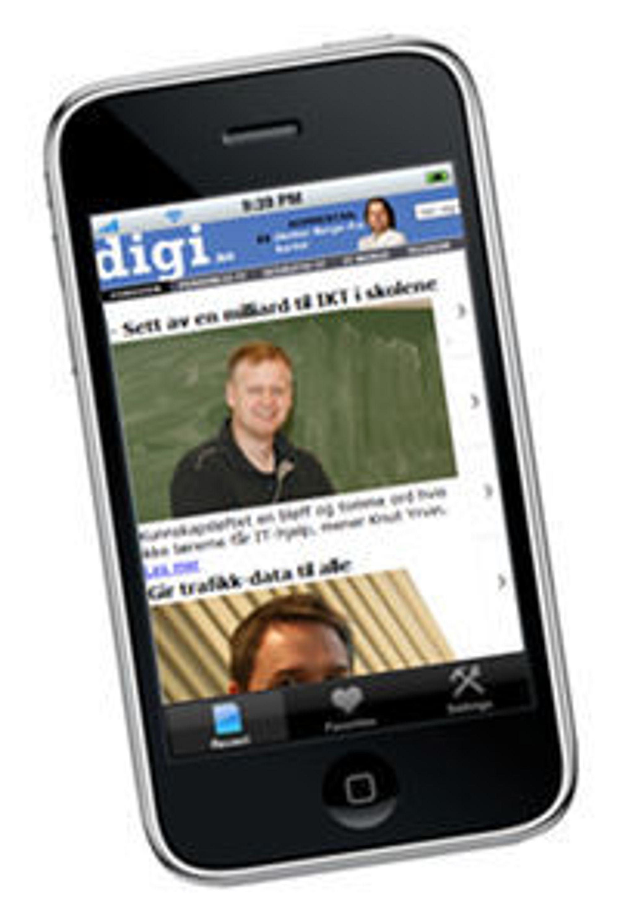 Med AppLoop får digi.no egen iPhone-applikasjon, så fort vi er registrert og godkjent.