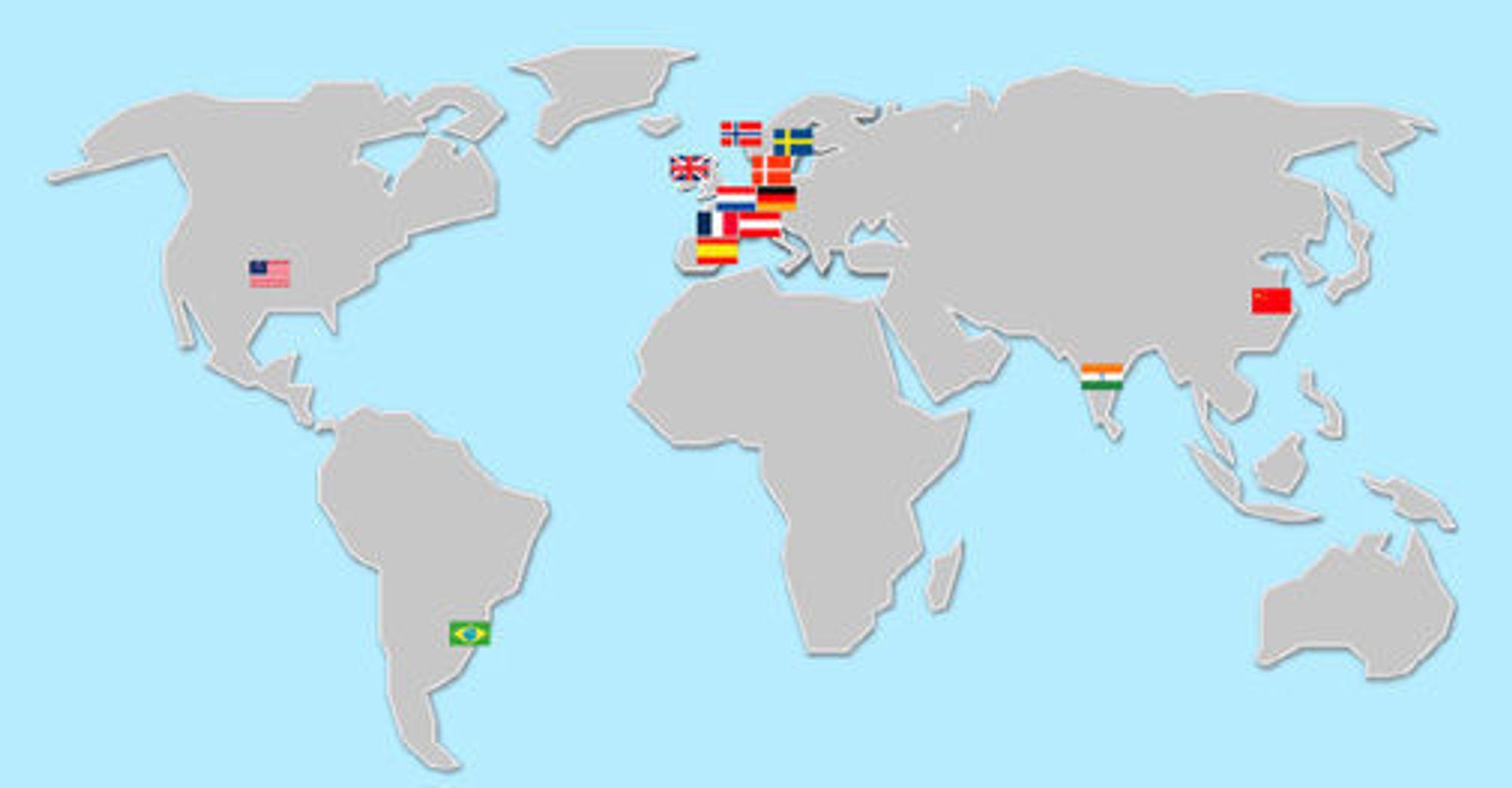 Varnish brukes av selskaper og organisasjoner i 15 land - som Linpro kjenner til.
