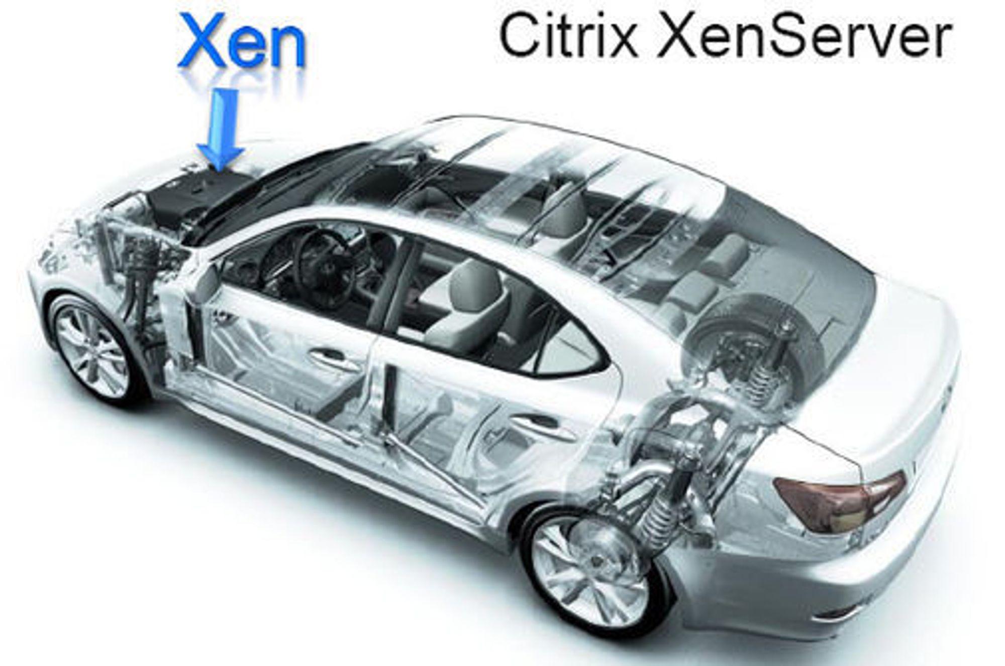 - Xen er en motor, og ikke en bil. Vår bil er en en XenServer, sier Simon Crosby, CTO i Citrix.