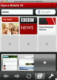 Opera Mobile 10 for Mac OS X