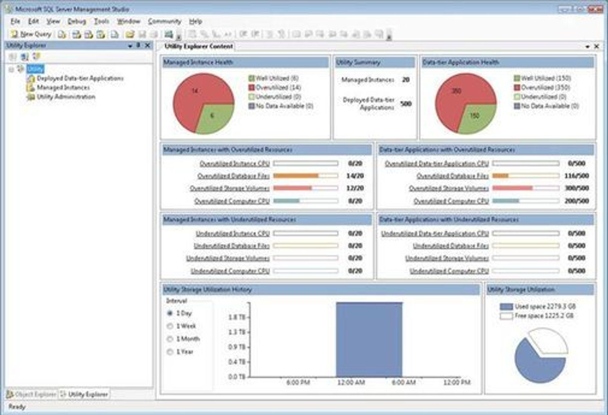 Det nye administrasjonsverktøyet i SQL Server 2008 R2.