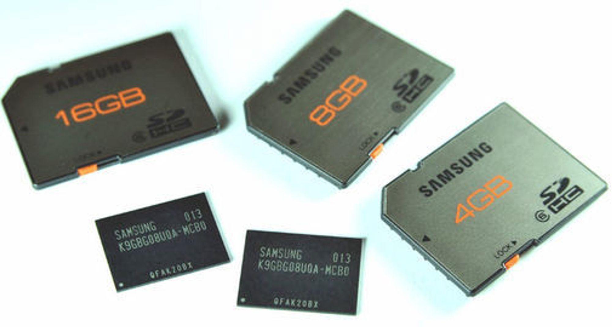 Flashminnebrikker og SD-kort basert på 20 nanometers prosessteknologi.